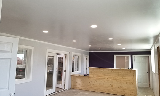 recessed lighting project